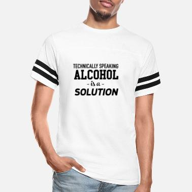 Solution Alcohol is a solution - Unisex Vintage Sport T-Shirt