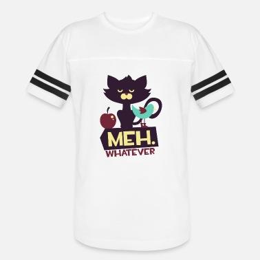 e10037f4 Cat Attitude - Meh Whatever - Funny Cat - Unisex Vintage Sport T-Shirt