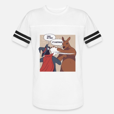 Funny australian halloween with kangaroo & witch - Unisex Vintage Sport T-Shirt