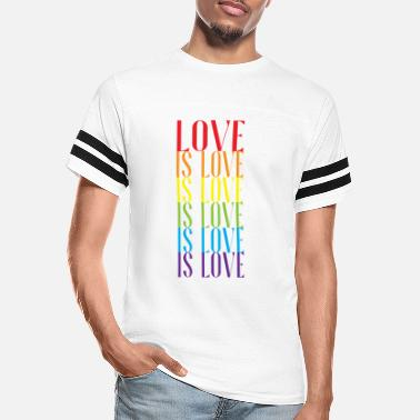 Lgbtq LGBT PRIDE MONTH PARADE graphic - LOVE IS LOVE - Unisex Vintage Sport T-Shirt