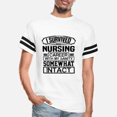 Out Nurse Gift I Survived My Nursing Career with my - Unisex Vintage Sport T-Shirt