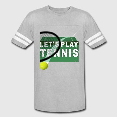 Lets Play Tennis Let's Play Tennis T Shirts, Green - Vintage Sport T-Shirt