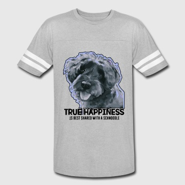 Schnoodle True Happiness With A Schnoodle Shirt - Vintage Sport T-Shirt