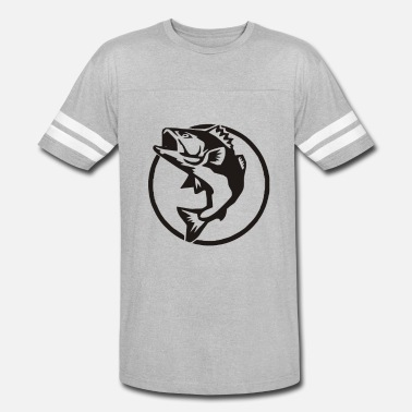 Logo Fish Fishing Logo - Vintage Sport T-Shirt
