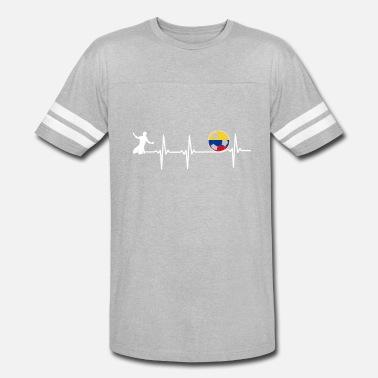 901fcfab81b Colombian Soccer Colombian Flag Soccer Designs - Unisex Vintage Sport T- Shirt