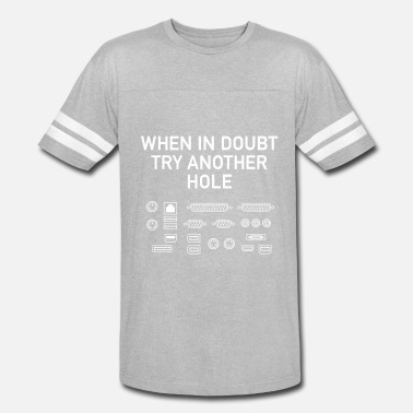 5b2d78372 When In Doubt Try Another Hole Men's Premium T-Shirt | Spreadshirt