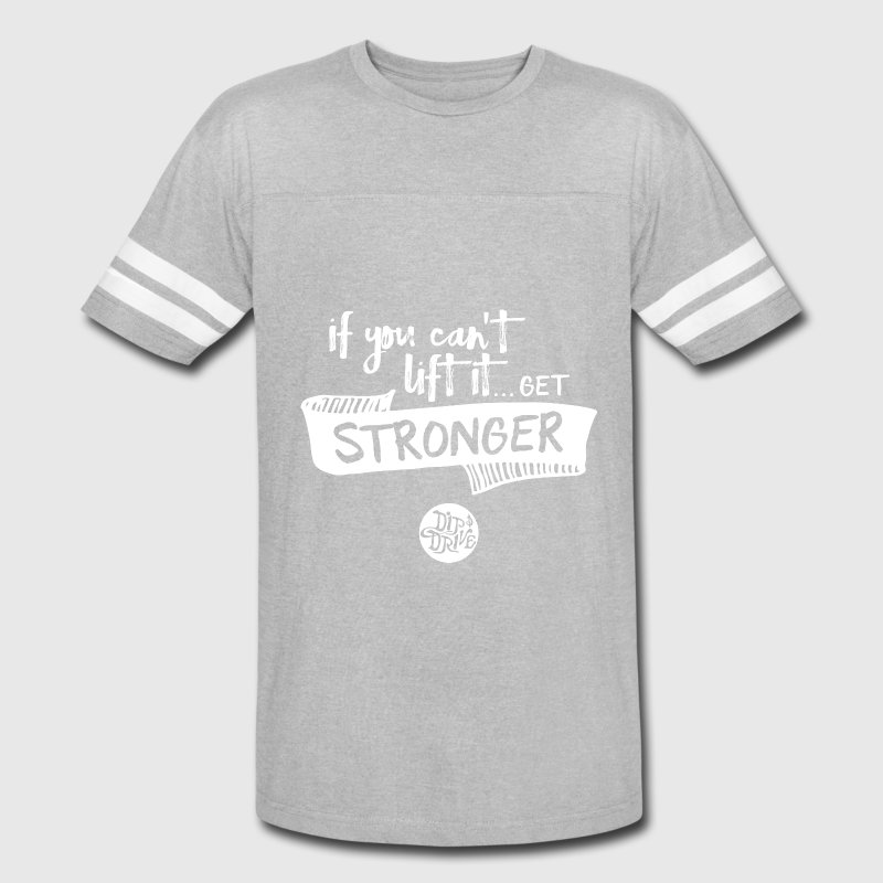 Stronger - Fitted Cotton/Poly T-Shirt by Next Leve - Vintage Sport T-Shirt