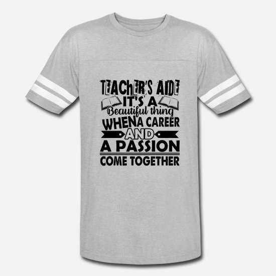 54878e83 Teacher T-Shirts - Proud Teacher Aide Shirt - Unisex Vintage Sport T-Shirt
