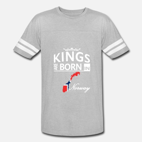 Unisex Vintage Sport T ShirtNorway Born Kings Dad Husband Cool Birthday Gift