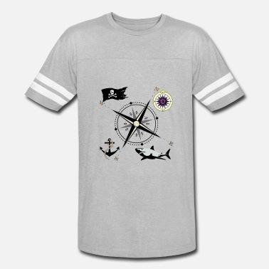 0275a515d2191 Nautical Compass Nautical Designs - Unisex Vintage Sport T-Shirt