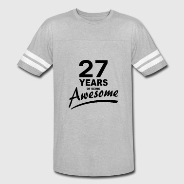 27 Years 27 Years of being AWESOME - Vintage Sport T-Shirt
