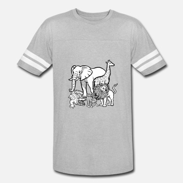 Zoo Animal zoo animals - Unisex Vintage Sport T-Shirt