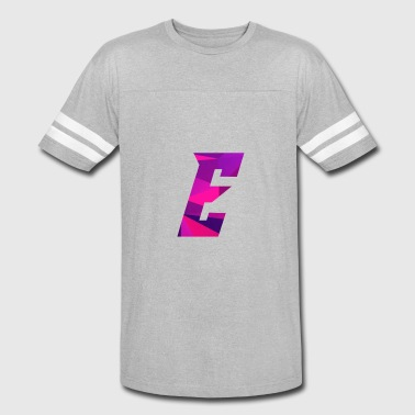Big E E Polygon Fade YouTube Logo big - Vintage Sport T-Shirt