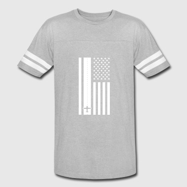 Airplane Airport Airplane American Flag - Airport Runway - Vintage Sport T-Shirt