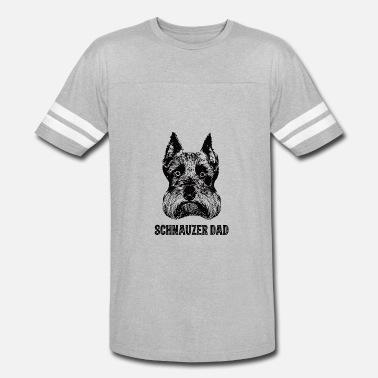 b030af8f Schnauzer Dad Schnauzer Dad - Unisex Vintage Sport T-Shirt