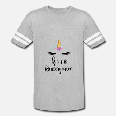 Funny Kindergarten Teacher K is For Kindergarten Tshirt Teacher Unicorn - Vintage Sport T-Shirt