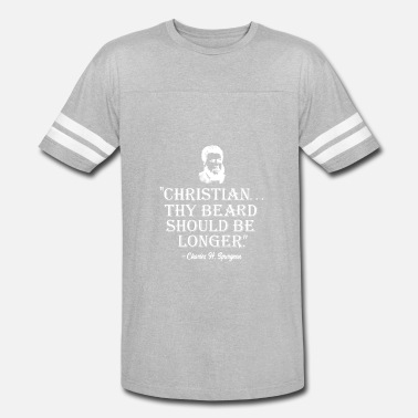 Reformed Baptist Christian Beard Should Be Longer Spurgeon T-shirt - Vintage Sport T-Shirt