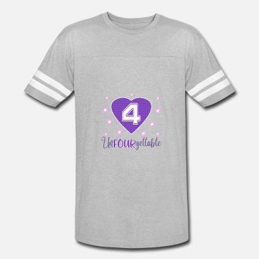 0d10e6053832f Top Fun 4th Birthday Unfourgettable Gift Design on light - Unisex Vintage  Sport T-Shirt