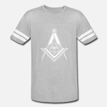 Nazi New World Order All Seeing Eye (Black) - Vintage Sport T-Shirt