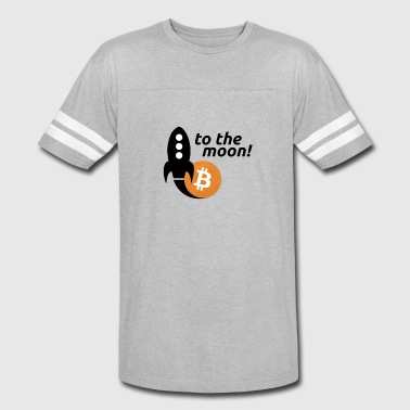Bitcoin to the moon - Vintage Sport T-Shirt
