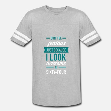 Sixty-four Awesome At Sixty-Four - Unisex Vintage Sport T-Shirt