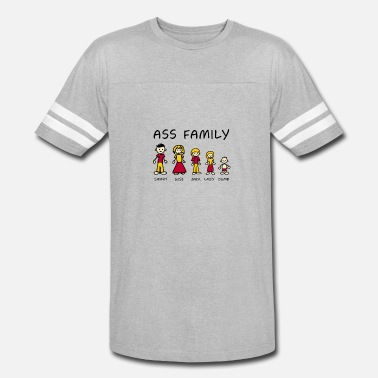 The Ass Family The Ass Family Funny - Vintage Sport T-Shirt