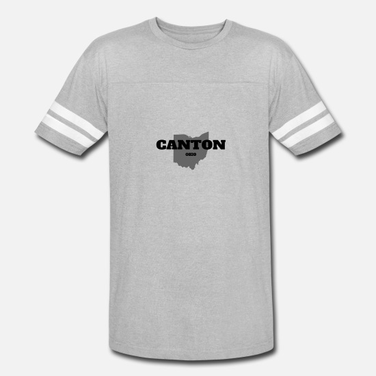 Baseball T-Shirts - OHIO CANTON US STATE EDITION - Unisex Vintage Sport T-Shirt heather gray/white