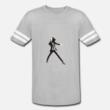 Disco Dancer Silhouette A Disco Dancer In Suit With Hat - Vintage Sport T-Shirt