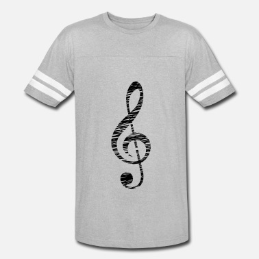 Fantabulous Treble Clef - Music Themed Apparel - Vintage Sport T-Shirt