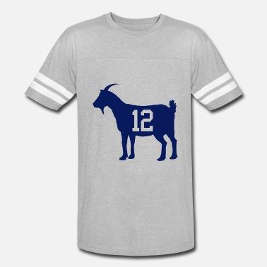 54f47e7d4 Tom Brady goat 12 - Unisex Vintage Sport T-Shirt