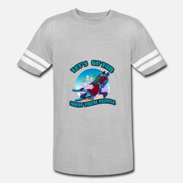 Nitrox Diver Let's Go Far Away From People Scuba Diving - Vintage Sport T-Shirt