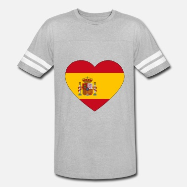 Greenfield heart spain flag worldchampionship 2018 - Vintage Sport T-Shirt