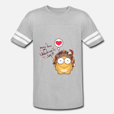 Hedgehog Valentines Day Hedgehog animal more love on Valentines day - Vintage Sport T-Shirt