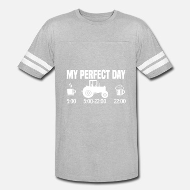 Perfect My perfect day - Tractor farmer gift - Vintage Sport T-Shirt