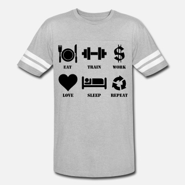 e1f28f7be012 Eat, Train, Work, Love, Sleep, Repeat Men's Premium T-Shirt ...