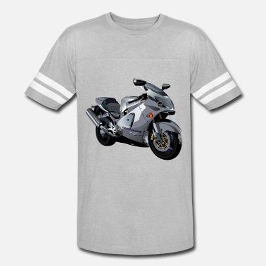 Realist Realistic gray motor cycle - Unisex Vintage Sport T-Shirt
