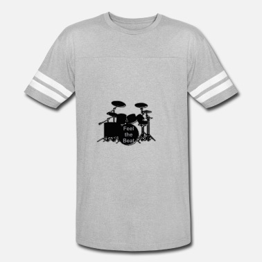 Floortom drums feel the Beat - Unisex Vintage Sport T-Shirt