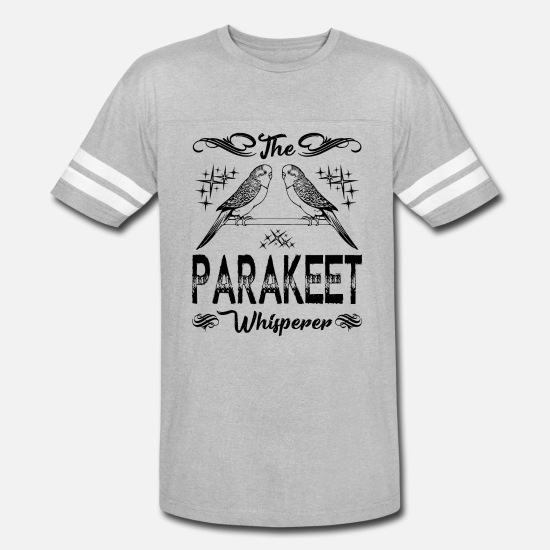 Budgie T-Shirts - The Parakeet Whisperer Shirt - Unisex Vintage Sport T-Shirt heather gray/white