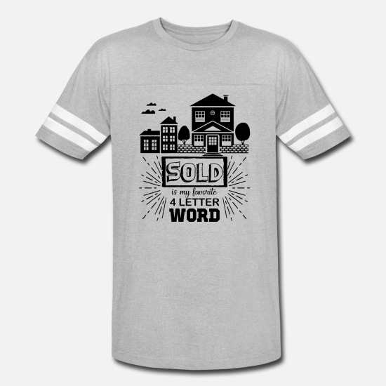 Real T-Shirts - Real Estate Agent Shirt - Unisex Vintage Sport T-Shirt heather gray/white