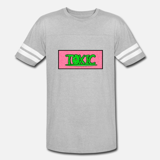 Funny T-Shirts - Toxic design v2 Pink - Unisex Vintage Sport T-Shirt heather gray/white