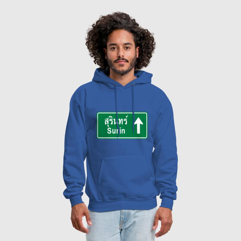 Surin, Thailand / Highway Road Traffic Sign - Men's Hoodie