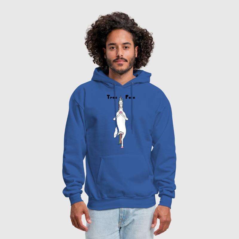 Yoga Unicorn Tree Pose - Men's Hoodie