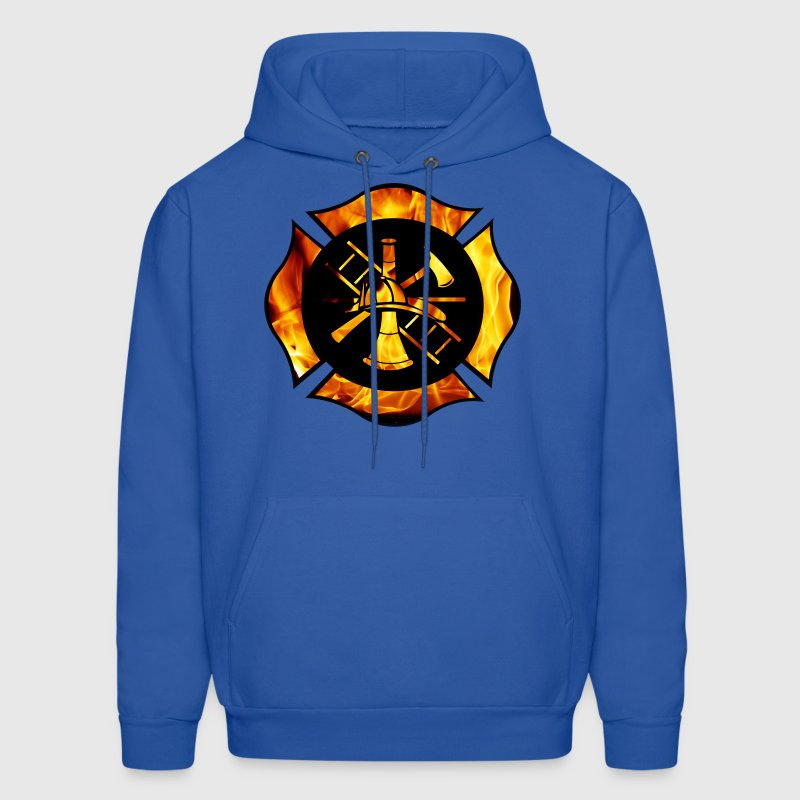 Flaming Maltese Cross - Men's Hoodie