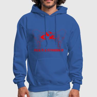 Flex And Finesse Red - Men's Hoodie