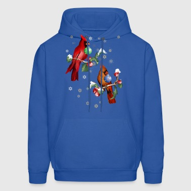 Two Chirstmas Birds  - Men's Hoodie