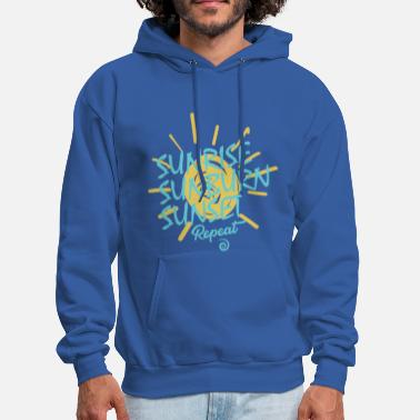 sunrise sunburn sunset repeat - Men's Hoodie