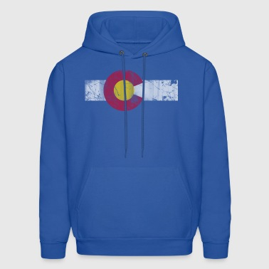 Colorado Flag Vintage Fade - Men's Hoodie