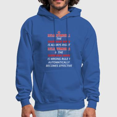 Garbage gift rule 1 always right GARBAGE MAN - Men's Hoodie