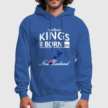 New Zealand Born Kings Dad Husband Birthday Gift - Men's Hoodie