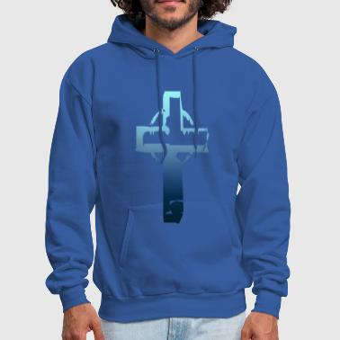 Blue Tone Cross - Men's Hoodie